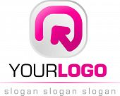 abstract logo en pictogram, vector web 2.0