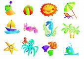Summer Beach Travel Clip Art poster