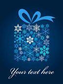 Постер, плакат: Рождественский подарок коробку с узором снежинка
