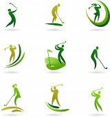 pic of golf  - Golf icons collection - JPG