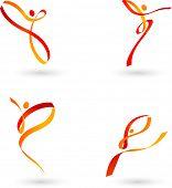 Постер, плакат: Аннотация танцы контуры