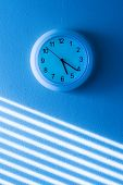 picture of blinders  - Blue wall clock - JPG