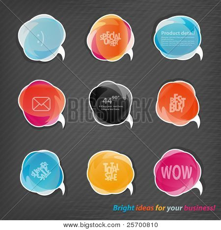 Transparent speech bubbles for your website