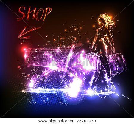 shop light design template