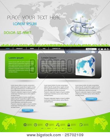 web page template design for business homepage, easy editable