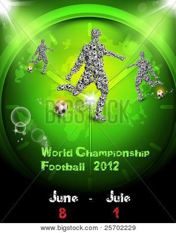 Fußball Fußball der Welt-Meisterschaft, leicht bearbeitbar