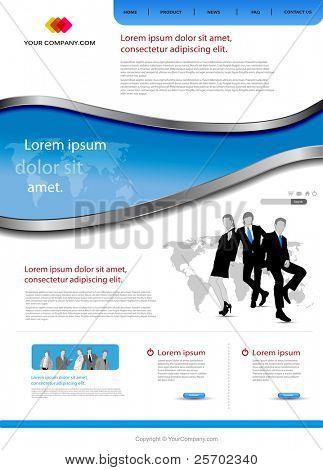 Plantilla de sitio web de oficina