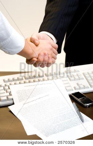 View Of Handshake
