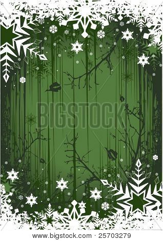 Green Grunge Winter Background
