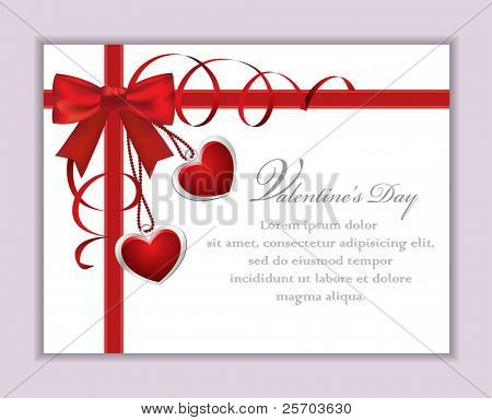 Valentine's Card with Bow
