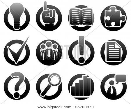 Medien und Informationen-Icons - Vector Icon Set