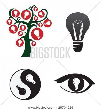 Symbols of creativity and ideas