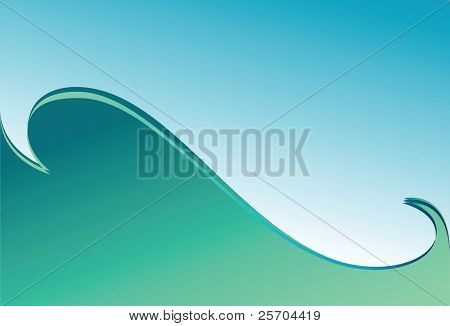 Green wave. Background. Vector illustration.