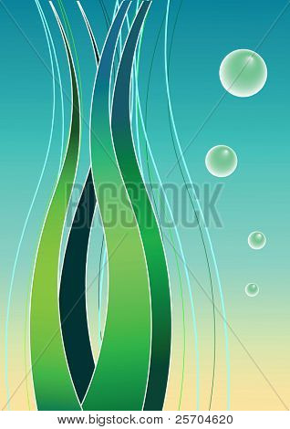 Undersea. Background. Vector illustration.