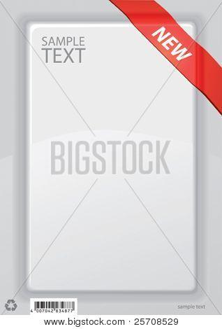 leeren weißen Rahmen für Text, Vektor Hintergrund
