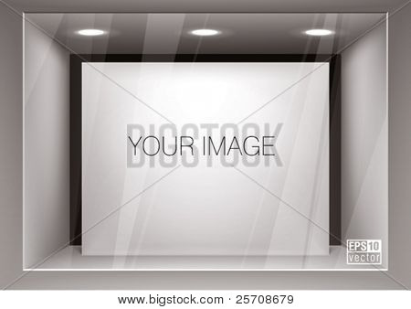Empty storefront. You can change colors for the background, eps10 vector