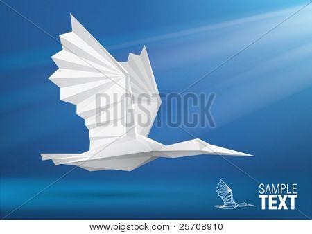 Vector bird stylized triangle polygon model