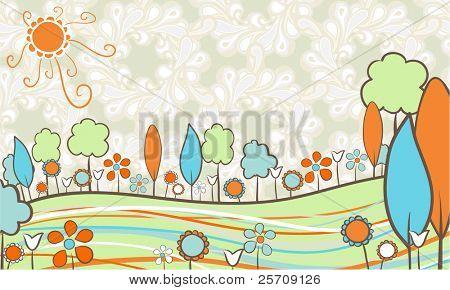 Retro landscape