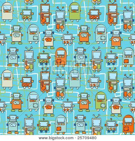 Seamless Pattern - Roboter