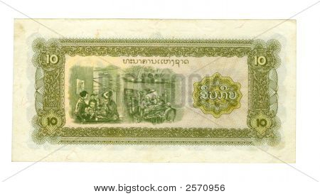10 Kip Bill Of Laos