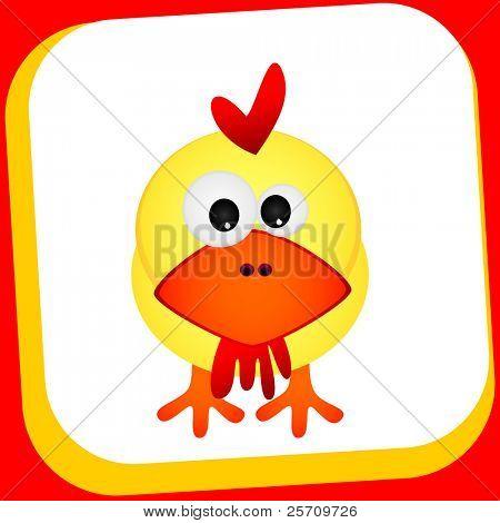 Ilustración de vector de gallina de dibujos animados
