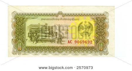 10 Kip Bill Of Laos