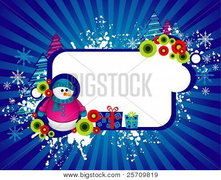 snowman banner vector illustration