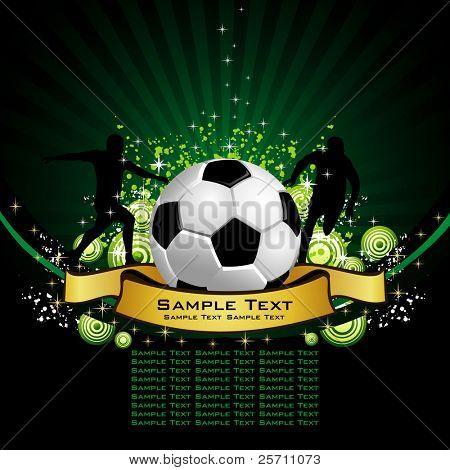 Lugar de cartel de fútbol para el texto