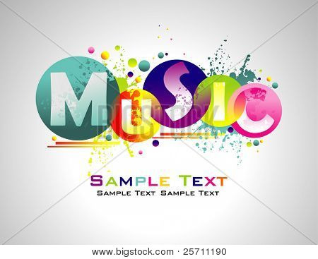 Music abstract colorful background.