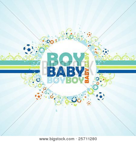 Baby Boy colorful background.