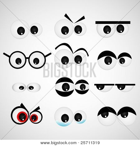 Cartoon Auge set Vektor-illustration