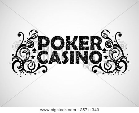 Poker and casino background