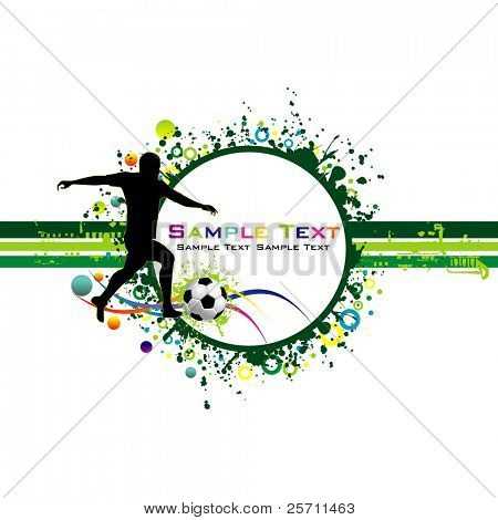 Football colorful background.