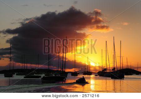 Sunset Over St, John, Usvi