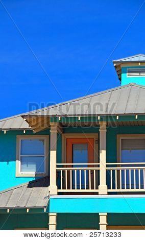 Turquoise and Orange Home
