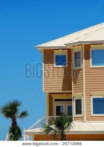 Coastal Home and Palm Trees