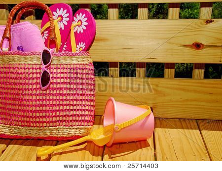 Beach Bag and Sand Pail