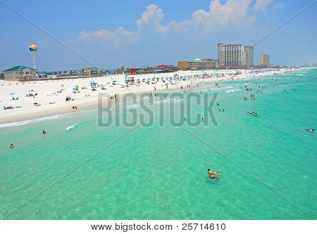 Wide View of Pensacola Florida Beach and Seashore