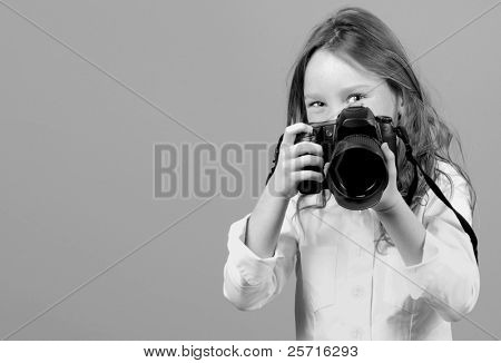 Young Girl with Fancy Camera
