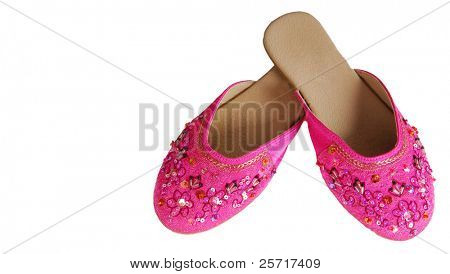 Ornate Pink Slipper Shoes