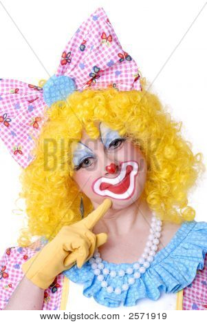 Flirting Female Clown