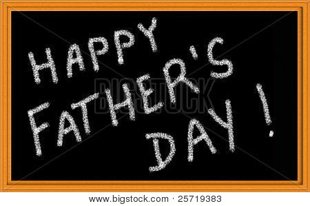 Happy Father's Day Written on Chalkboard