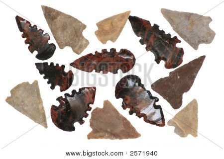 Native American Arrowheads.