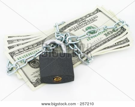 Dollar, gefesselt und gesperrt