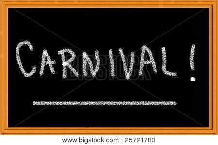 carnival on chalkboard