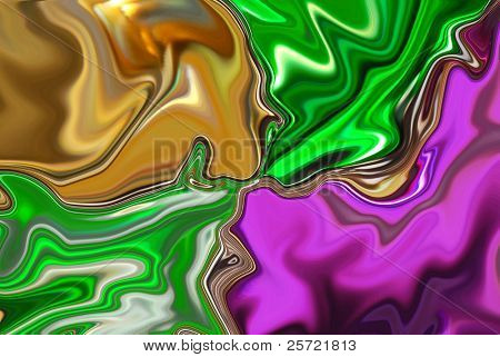 Metallic background in traditional mardi gras colors