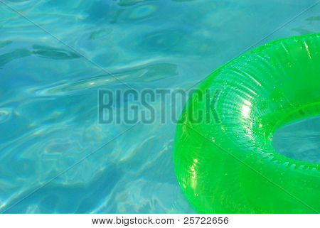 Inflatable pool toy in pretty water
