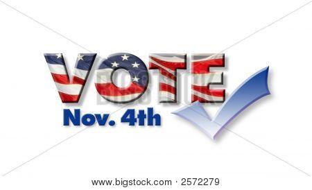 Votar em 4 de novembro