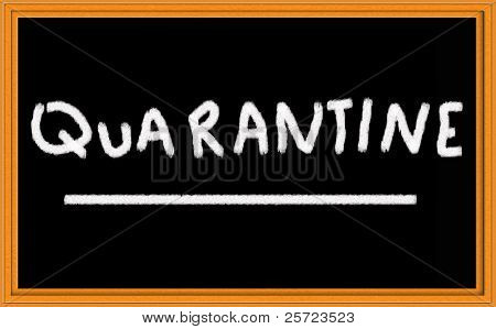 quarantine on chalkboard