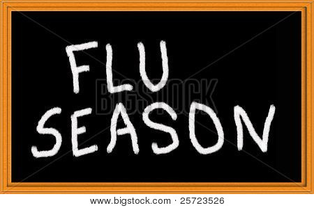 flu season on chalkboard